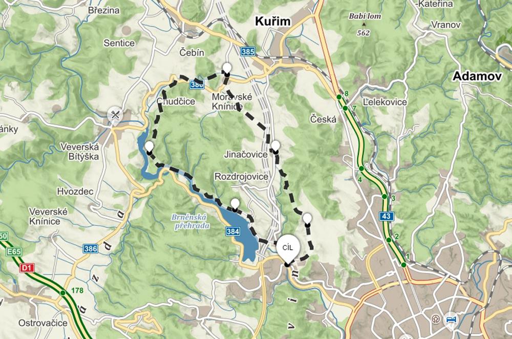 mapa-cyklo-bystrc-kninice